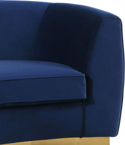 Meridian Furniture Julian Navy Velvet Sofa