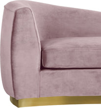 Meridian Furniture Julian Pink Velvet Chaise
