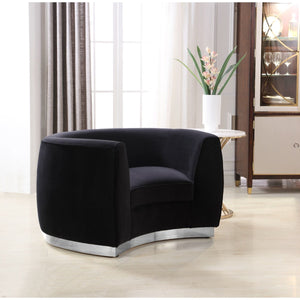 Meridian Furniture Julian Black Velvet Chair-Minimal & Modern