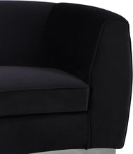 Meridian Furniture Julian Black Velvet Chair
