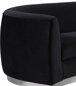 Meridian Furniture Julian Black Velvet Loveseat