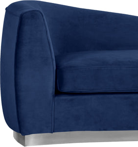 Meridian Furniture Julian Navy Velvet Chaise