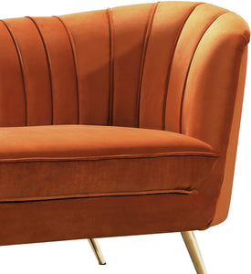 Meridian Furniture Margo Cognac Velvet Chair