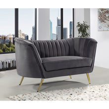 Meridian Furniture Margo Grey Velvet Loveseat-Minimal & Modern