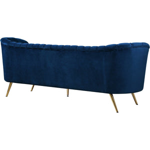 Meridian Furniture Margo Navy Velvet Sofa-Minimal & Modern