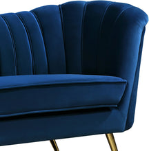 Meridian Furniture Margo Navy Velvet Sofa