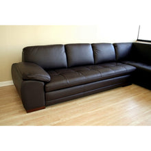Baxton Studio Diana Dark Brown Sofa/Chaise Sectional Baxton Studio-sectionals-Minimal And Modern - 3