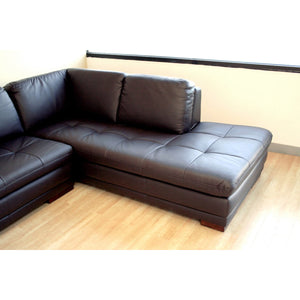 Baxton Studio Diana Dark Brown Sofa/Chaise Sectional Baxton Studio-sectionals-Minimal And Modern - 4