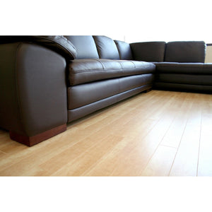Baxton Studio Diana Dark Brown Sofa/Chaise Sectional Baxton Studio-sectionals-Minimal And Modern - 5