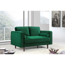 Meridian Furniture Emily Green Velvet Loveseat-Minimal & Modern