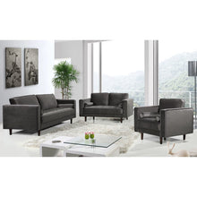 Meridian Furniture Emily Grey Velvet Sofa-Minimal & Modern