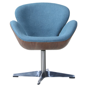 Clayton Fabric Swivel Chair by New Pacific Direct - 6300043