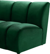 Meridian Furniture Infinity Green Velvet 2pc. Modular Sectional