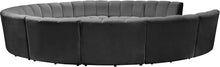 Meridian Furniture Infinity Grey Velvet 11pc. Modular Sectional