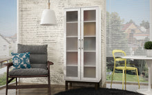 Accentuations by Manhattan Comfort Serra 2.0 - 5-Shelf Bookcase in White and Wooden Legs-Minimal & Modern
