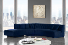 Meridian Furniture Kenzi Navy Velvet 2pc. Sectional