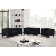Meridian Furniture Taylor Black Velvet Loveseat-Minimal & Modern