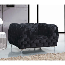 Meridian Furniture Mercer Black Velvet Chair-Minimal & Modern