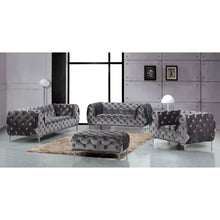 Meridian Furniture Mercer Grey Velvet Sofa-Minimal & Modern