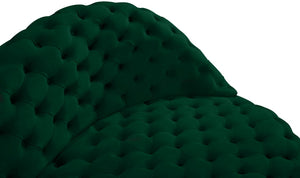 Meridian Furniture Royal Green Velvet 2pc. Sectional