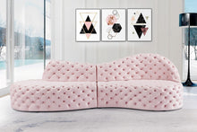 Meridian Furniture Royal Pink Velvet 2pc. Sectional