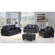 Meridian Furniture Ferrara Black Leather Loveseat-Minimal & Modern