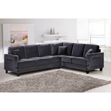Meridian Furniture Ferrara Grey Velvet 2Pc. Sectional