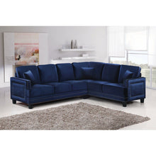 Meridian Furniture Ferrara Navy Velvet 2Pc. Sectional