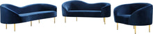 Meridian Furniture Ritz Navy Velvet Chair