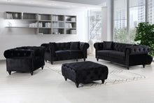 Meridian Furniture Chesterfield Black Velvet Sofa