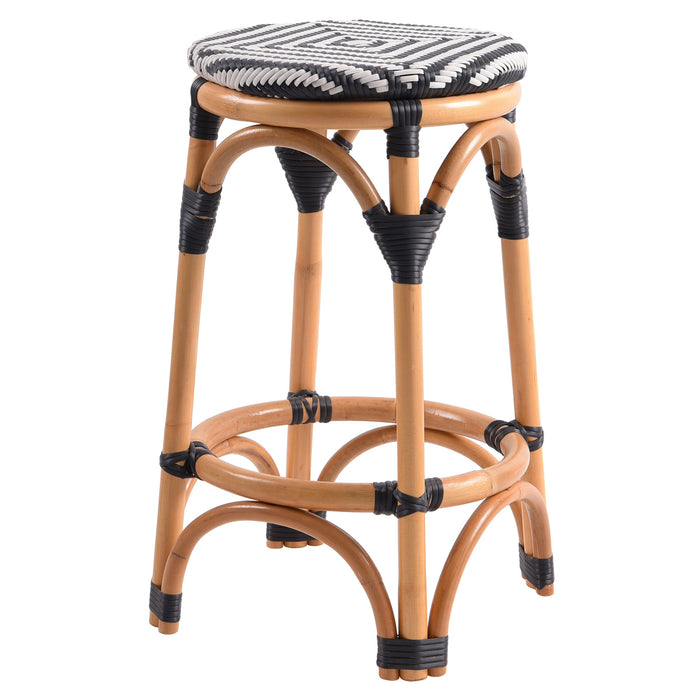 Adeline Rattan Backless Bistro Counter Stool by New Pacific Direct - 668625