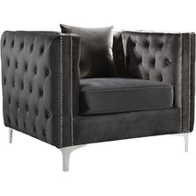 Meridian Furniture Jesse Grey Velvet ChairMeridian Furniture - Chair - Minimal And Modern - 1