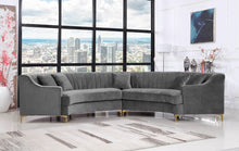 Meridian Furniture Jackson Grey Velvet 2pc. Sectional