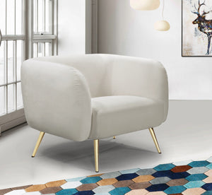 Meridian Furniture Harlow Cream Velvet Chair