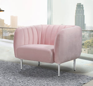 Meridian Furniture Willow Pink Velvet Chair