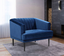 Meridian Furniture Rory Navy Velvet Chair