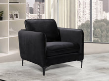 Meridian Furniture Poppy Black Velvet Chair