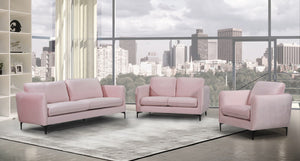 Meridian Furniture Poppy Pink Velvet Chair