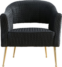 Meridian Furniture Monroe Black Velvet Chair