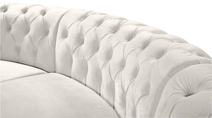Meridian Furniture Anabella Cream Velvet 3pc. Sectional