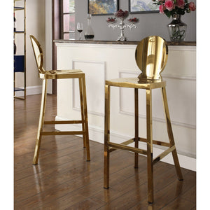 Meridian Furniture Maddox Gold Stool-Minimal & Modern