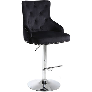 Meridian Furniture Claude Black Velvet Adjustable Stool-Minimal & Modern