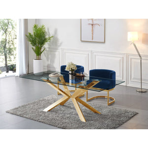 Meridian Furniture Capri Gold Dining Table-Minimal & Modern