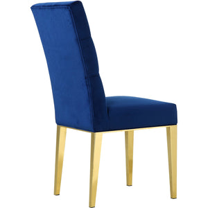 Meridian Furniture Capri Navy Velvet Dining Chair-Minimal & Modern