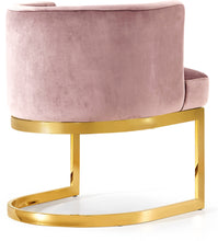 Meridian Furniture Gianna Pink Velvet Dining Chair