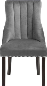 Meridian Furniture Oxford Grey Velvet Dining Chair - Set of 2