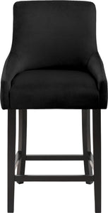 Meridian Furniture Demi Black Velvet Stool - Set of 2