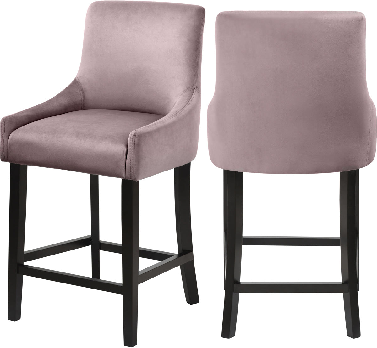 Meridian Furniture Demi Pink Velvet StoolMeridian Furniture - Stool - Minimal And Modern - 1