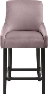 Meridian Furniture Demi Pink Velvet Stool - Set of 2