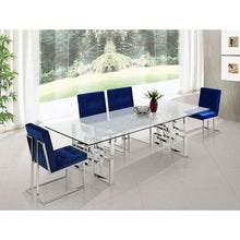 Meridian Furniture Alexis Chrome Dining Table-Minimal & Modern